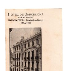 Postales: MADRID.- HOTEL DE BARCELONA MADRID. MARIA PINEDA 7. Lote 141507058
