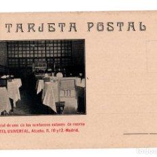 Postales: MADRID.- VISTA PARCIAL DE UNO DE LOS SUNTUOSOS SALONES DE RECREO. HOTEL UNIVERSAL.TEJADA Y MARTÍN. . Lote 141602418