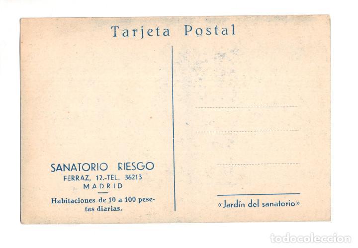 Postales: MADRID.- SANATORIO RIESGO. FERRAZ 12. JARDÍN DEL SANATORIO - Foto 2 - 141602730