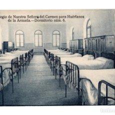 Postales: COLEGIO DE NUESTRA SEÑORA DEL CARMEN PARA HUÉRFANOS DE LA ARMADA.- DORMITORIO NUMERO 6. Lote 141651370