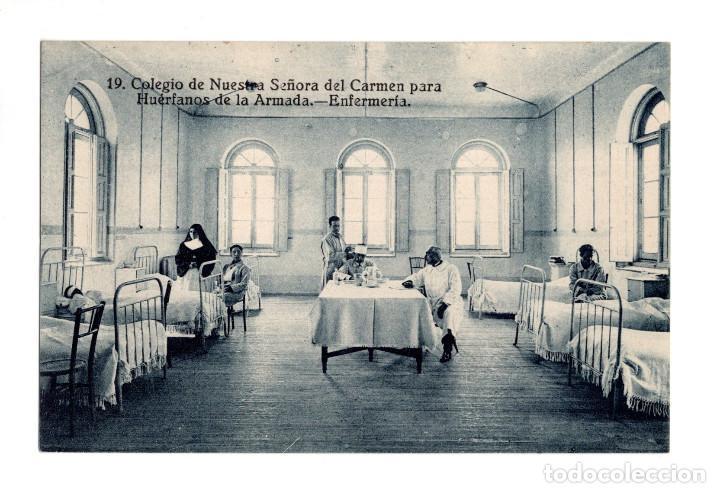COLEGIO DE NUESTRA SEÑORA DEL CARMEN PARA HUÉRFANOS DE LA ARMADA.- ENFERMERÍA (Postales - España - Comunidad de Madrid Antigua (hasta 1939))
