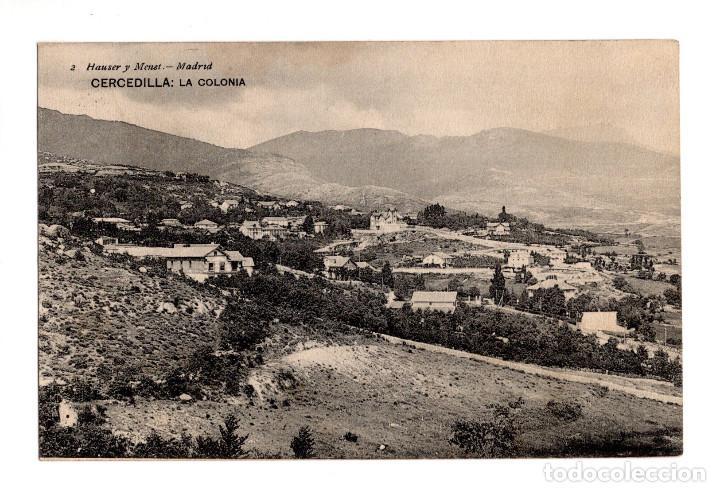 CERCEDILLA (MADRID).- LA COLONIA (Postales - España - Comunidad de Madrid Antigua (hasta 1939))