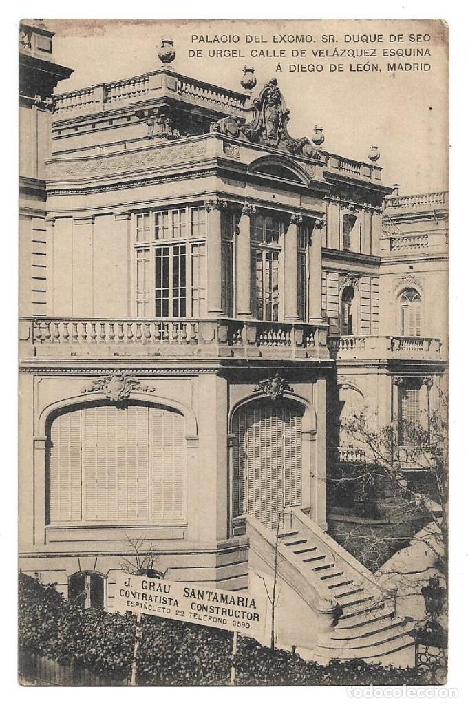 Madrid Palacio Duque De Seo De Urgel Calle Comprar Postales