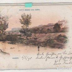 Postales: MADRID VISTA DESDE SAN ISIDRO 401 HAUSER Y MENET. CIRCULADA SIGLO XIX FRANQUEO VOLUNTARIO 2 CENT.. Lote 142585318
