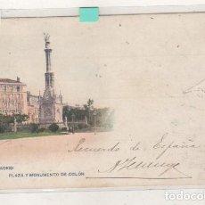 Postales: MADRID PLAZA Y MONUMENTO DE COLÓN 402 HAUSER Y MENET. CIRCULADA EN EL SIGLO XIX. Lote 142586310