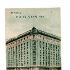 Postales: MADRID.- HOTEL GRAN VIA. AVENIDA DE PI Y MARGALL. Lote 142775534