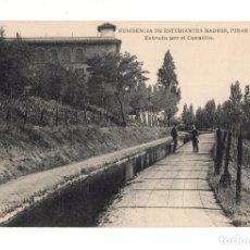 Postales: MADRID.- RESIDENCIA DE ESTUDIANTES PINAR 17, ENTRADA POR EL CANALILLO. Lote 142822462