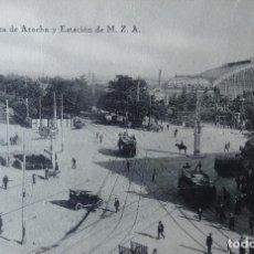 Postales: MADRID - CLORIETA DE ATOCHA Y ESTACION M.Z.A.. Lote 143149162
