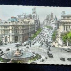 Postales: POSTAL MADRID PLAZA DE LA CIBELES GARRABELLA. Lote 144462102