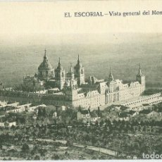 Postales: ANTIGUA POSTAL EL ESCORIAL VISTA GENERAL DEL MONASTERIO HIJO DE NICOLAS SERRANO. Lote 144722822