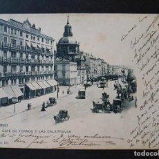 Postales: MADRID CAFE DE FORNOS Y LAS CALATRAVAS A. CANOVAS FOT . Lote 147037318