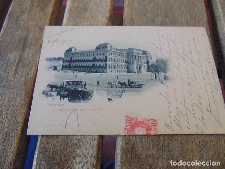 TARJETA POSTAL REVERSO SIN DIVIDIR MADRID MINISTERIO DE FOMENTO DOBLEZ (Postales - España - Comunidad de Madrid Antigua (hasta 1939))