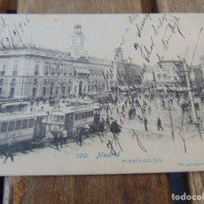 Postales: TARJETA POSTAL REVERSO SIN DIVIDIR MADRID PUERTA DEL SOL. Lote 147066566