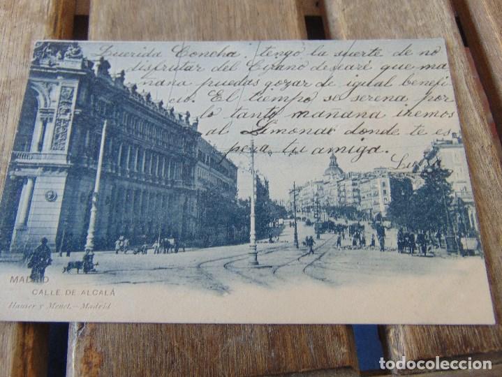 TARJETA POSTAL REVERSO SIN DIVIDIR MADRID CALLE ALCALA (Postales - España - Comunidad de Madrid Antigua (hasta 1939))