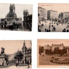 Postales: TARJETA POSTAL DE MADRID. LOTE DE 4 POSTALES. VER FOTOS.. Lote 147314934