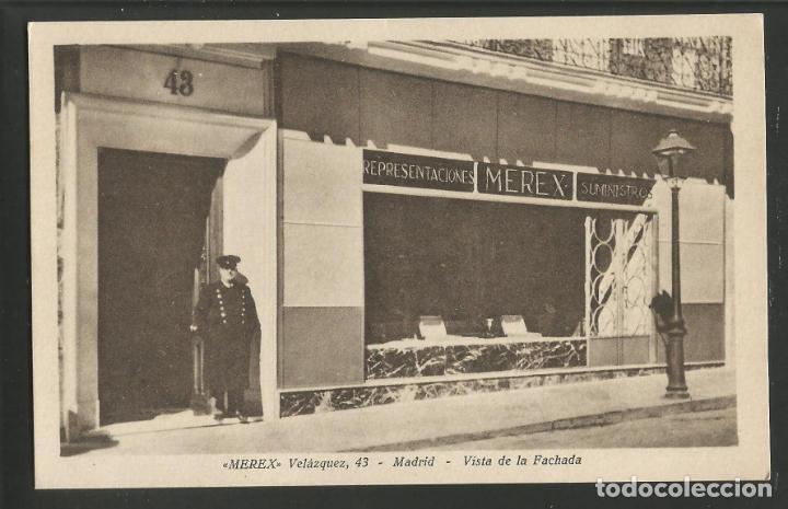 MADRID-MEREX-FACHADA-HELIOTIPIA KALLMEYER Y GAUTIER-POSTAL ANTIGUA-(56.190) (Postales - España - Comunidad de Madrid Antigua (hasta 1939))
