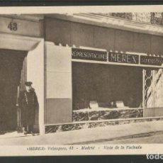 Postales: MADRID-MEREX-FACHADA-HELIOTIPIA KALLMEYER Y GAUTIER-POSTAL ANTIGUA-(56.190). Lote 147388686