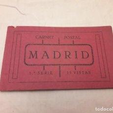 Postales: ANTIGUO CARNET 15 POSTALES MADRID 1ª SERIE. Lote 147791490