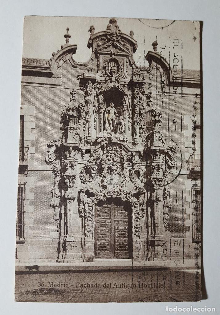 MADRID FACHADA DEL ANTIGUO HOSPICIO 1930 - HELIOTIPIA DE KALLMEYER Y GAUTIER (Postales - España - Madrid Moderna (desde 1940))