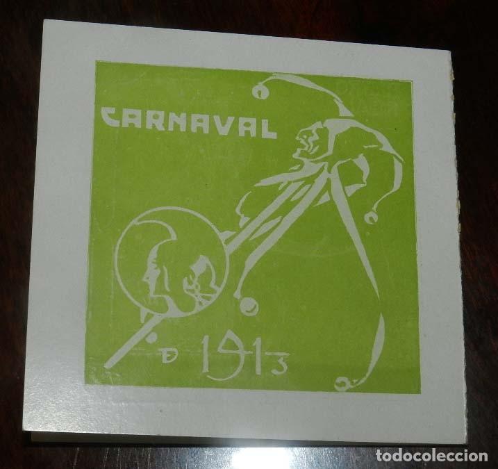 Postales: PROGRAMA TEATRO REAL 1913, GRAN BAILE DE MASCARAS, CARNAVAL, DIPTICO DE CARTULINA, MIDE ABIERTO 19 X - Foto 3 - 147978826