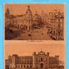 Postales: DOS POSTALES MADRID EDITOR HUECOGRABADO SIN CIRCULAR . Lote 147989618