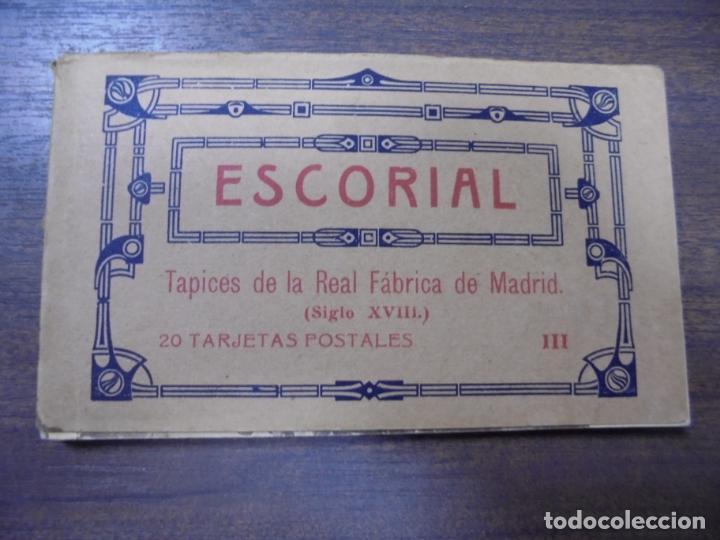 BLOC DE 20 TARJETAS POSTALES DE ESCORIAL. FOTOTIPIA DE HAUSER Y MENET- MADRID. (Postkarten - Spanien - Alte Gemeinschaft von Madrid (bis 1939))