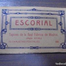 Postales: BLOC DE 20 TARJETAS POSTALES DE ESCORIAL. FOTOTIPIA DE HAUSER Y MENET- MADRID.. Lote 147998790