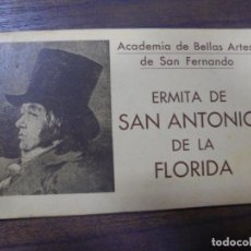 Postales: BLOC DE 10 TARJETAS POSTALES DE LA ERMITA DE SAN ANTONIO DE LA FLORIDA. HAUSER Y MENET- MADRID.. Lote 148002210