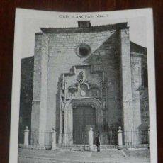 Postales: ANTIGUA POSTAL DE ALCALA DE HENARES (MADRID), FACHADA DE LA COLEGIATA, CLICHE CANOVAS NUM. 7, SIN CI. Lote 148004122