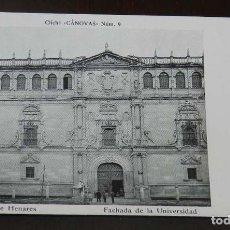 Postales: ANTIGUA POSTAL DE ALCALA DE HENARES (MADRID), FACHADA DE LA UNIVERSIDAD, CLICHE CANOVAS NUM. 9, SIN . Lote 148004446