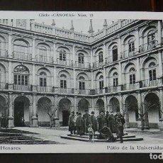 Postales: ANTIGUA POSTAL DE ALCALA DE HENARES (MADRID), PATIO DE LA UNIVERSIDAD, CLICHE CANOVAS NUM. 10, SIN C. Lote 148004582