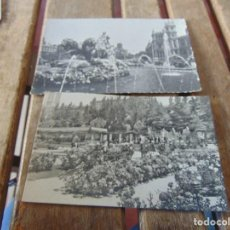 Postales: TARJETA POSTAL 2 MADRID JARDINES DE LA ROSALEDA FUENTE DE LA CIBELES. Lote 148025386