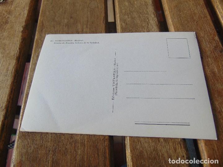 Postales: TARJETA POSTAL SOMOSIERRA MADRID ERMITA NUESTRA SEÑORA DE LA SOLEDAD - Foto 2 - 148025982