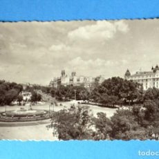 Postales: POSTAL DE MADRID: PANORÁMICA DE LA PLAZA DEL NEPTUNO. Lote 148042626
