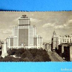 Postales: POSTAL DE MADRID: EDIFICIO ESPAÑA : EL RASCACIELOS MAYOR DE EUROPA. Lote 148044826