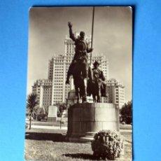 Postales: POSTAL DE MADRID: MONUMENTO A CERVANTES. Lote 148092550