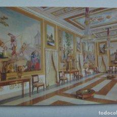 Postales: POSTAL DE EL ESCORIAL ( MADRID ): PALACIO DE LOS BORBONES, SALON EMBAJADORES. DE PATRIMONIO NACIONAL. Lote 148093914