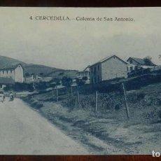 Postales: POSTAL DE CERCEDILLA (MADRID). COLONIA DE SAN ANTONIO. NUM.4. ED. BAZAR DE CERCEDILLA. NO CIRCULADA.. Lote 148145446