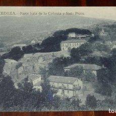 Postales: POSTAL DE CERCEDILLA (MADRID). PARTE BAJA DE LA COLONIA Y SIETE PICOS. NUM. 24. ED. BAZAR DE CERCEDI. Lote 148145790
