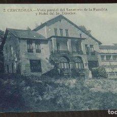 Postales: ANTIGUA POSTAL DE CERCEDILLA, MADRID, N.2, VISTA PARCIAL DEL SANATORIO DE LA FUENFRIA Y HOTEL DEL SR. Lote 148146330