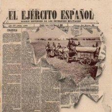 Postales: 14 HAUSER Y MENET EL EJERCITO ESPAÑOL. DIARIO DEFENSOR DE LOS INTERESES MILITARES SERIE PERIODICOS.. Lote 148221198