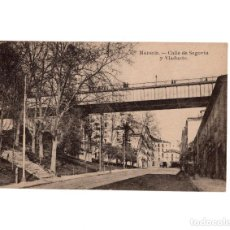Postales: MADRID.- CALLE SEGOVIA Y VIADUCTO. Lote 148374790