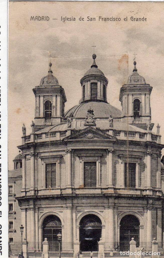 Madrid Iglesia De San Francisco El Grande Circulada 1916 Fto Jmolina1946