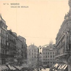 Postales: MADRID.- CALLE DE SEVILLA. Lote 149823450