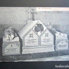 Postales: POSTAL MADRID. EL ESCORIAL. PANTEÓN DE INFANTES. CARRERA DE LOS DUQUES DE MONTPENSIER. . Lote 149980674