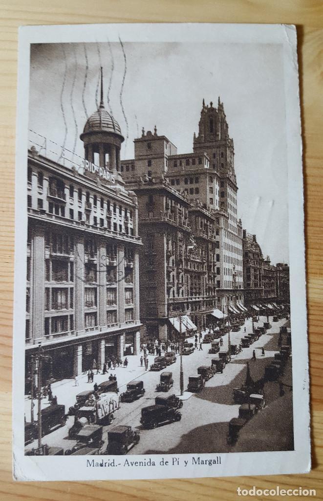 MADRID AVENIDA DE PI Y MARGALL 1934 SELLO REPUBLICA ED. DESCONOCIDO (Postales - España - Madrid Moderna (desde 1940))