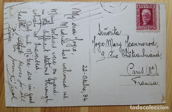 Postales: Madrid Avenida de Pi y Margall 1934 sello Republica Ed. desconocido - Foto 2 - 150705830