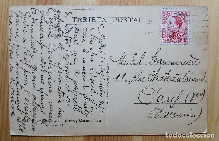 Postales: Madrid Estanque del Retiro y Monumento a Alfonso XII Nº 8 - Hueco Grabado Munbru - Foto 2 - 150705874