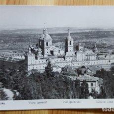 Postales: EL ESCORIAL VISTA GENERAL 1954 MANIPEL RTRO. Nº 142200? Nº NO SE DISTINGUE BIEN. Lote 150706442