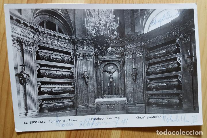 EL ESCORIAL PANTEON DE LOS REYES MANIPEL RTRO Nº 142205 1954 (Postales - España - Madrid Moderna (desde 1940))